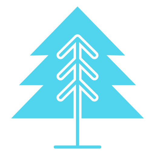 Icono de árbol de pino único