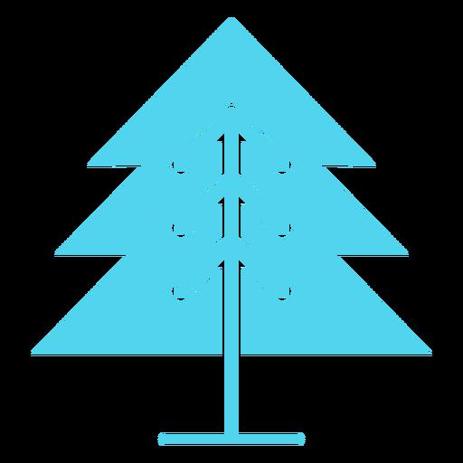 Single pine tree icon