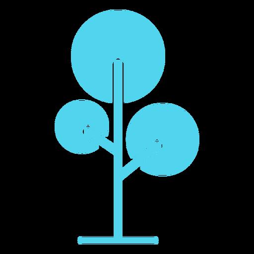 Ícone redondo da natureza da árvore