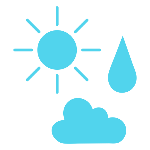 Weather icons silhouette