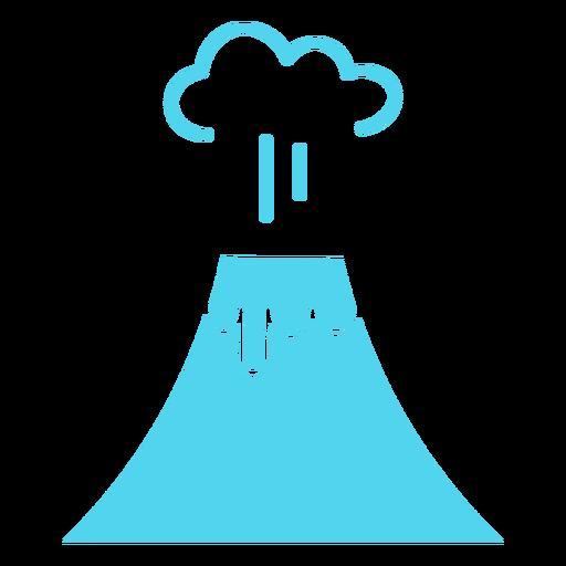 Exploding volcano icon