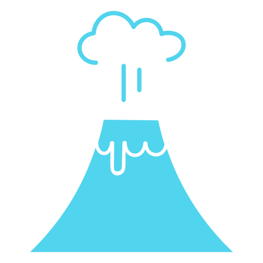 Icono de volcán explosivo