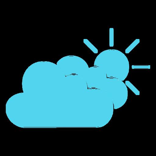 Icono de sol y nubes