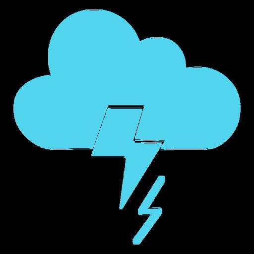 Storm cloud nature icon