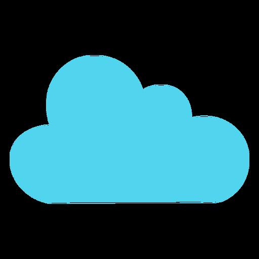 Icono de naturaleza de cielo de nube