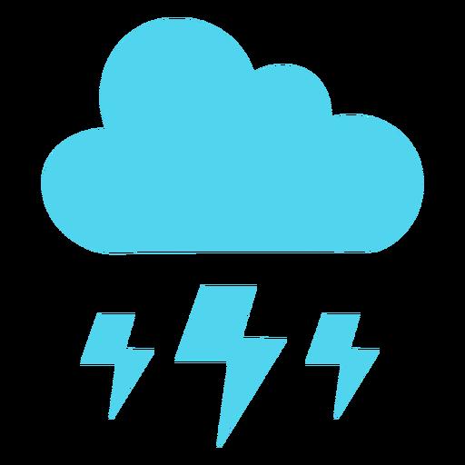 Storm cloud lightning bolts