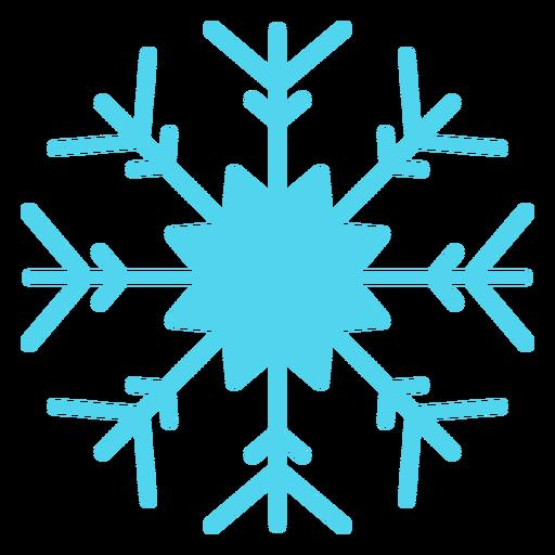 Silueta de invierno de copo de nieve
