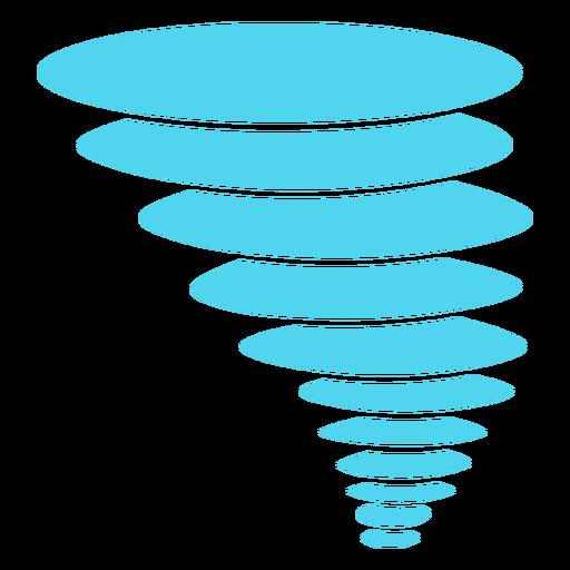 Icono de naturaleza de tornado
