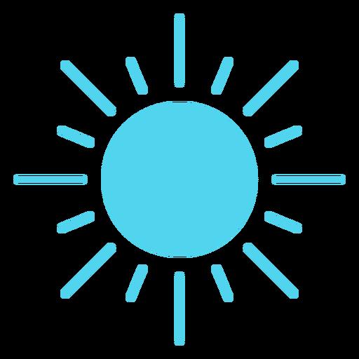 Shining sun nature icon