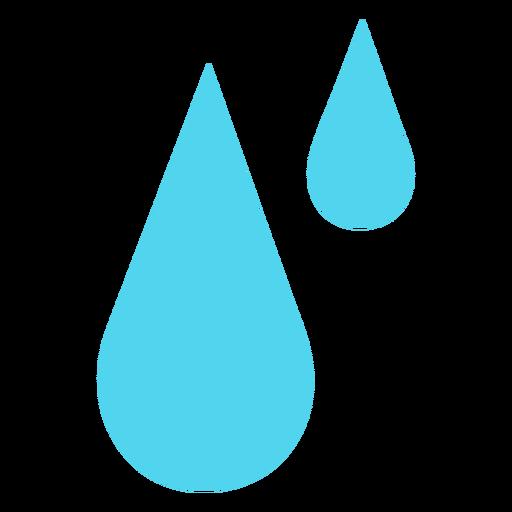 Gotas de lluvia de agua