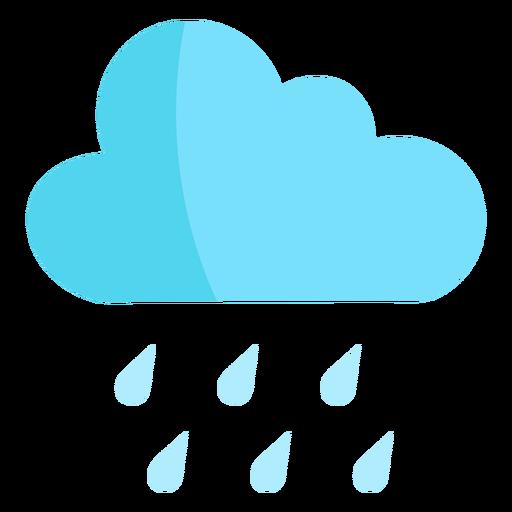 Natureza de nuvem de chuva semi plana