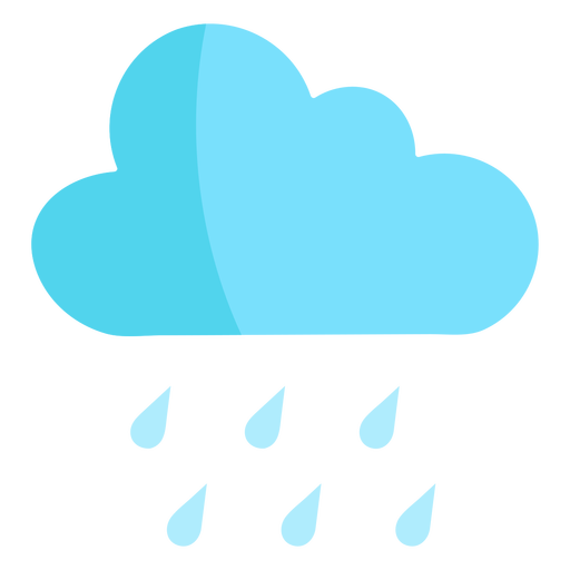 Nube de lluvia naturaleza semi plana