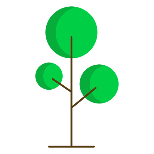 Natureza de árvore redonda semi plana