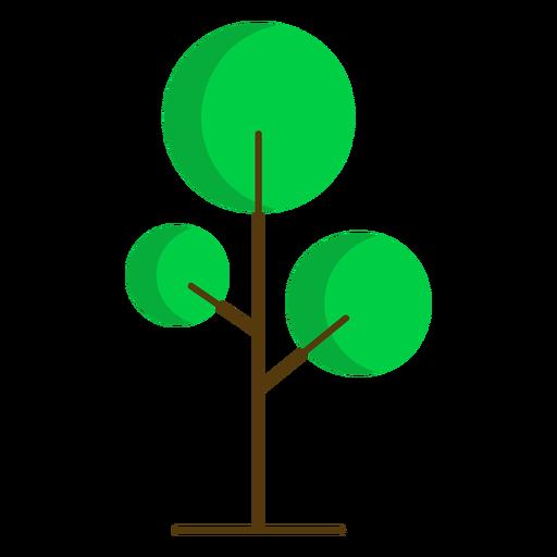 Round tree nature semi flat