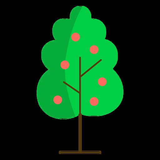 Apple tree nature semi flat