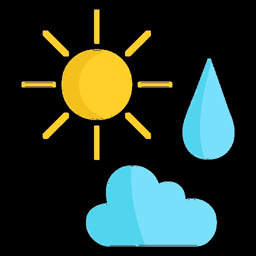 Nube de sol y lluvia