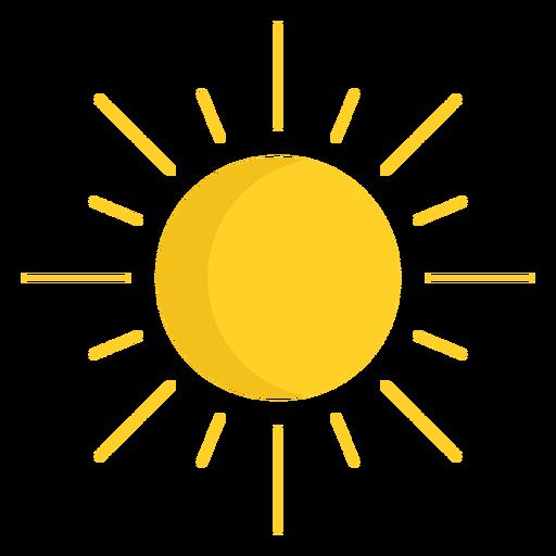 Sol brillando en el cielo
