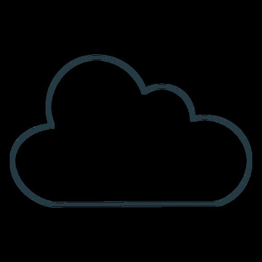 Single cloud icon
