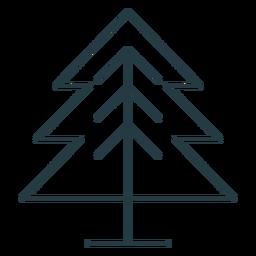 Pine tree stroke icon