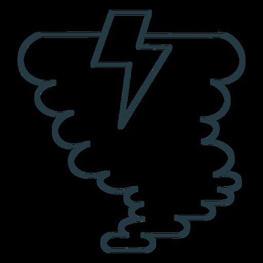 Storm tornado lightning bolt