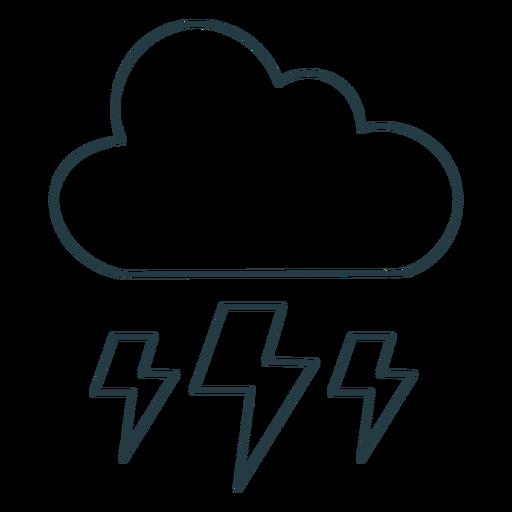 Storm cloud stroke