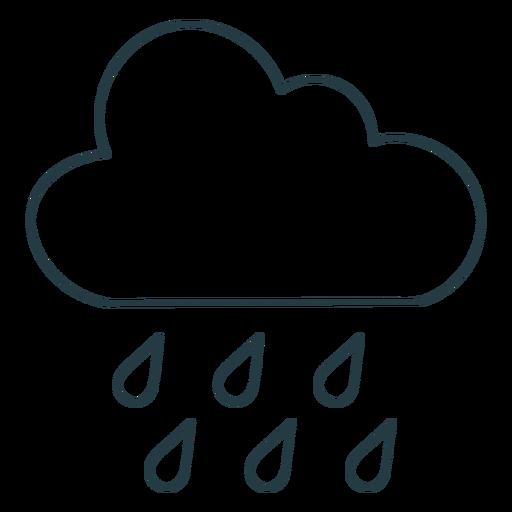 Cloud raining stroke