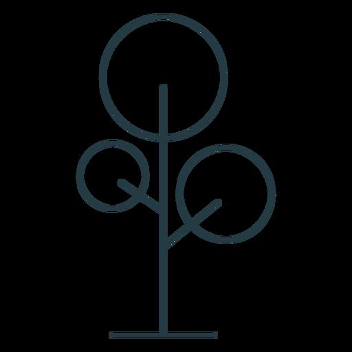 Round tree icon stroke