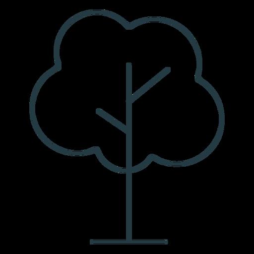 Single tree stroke icon
