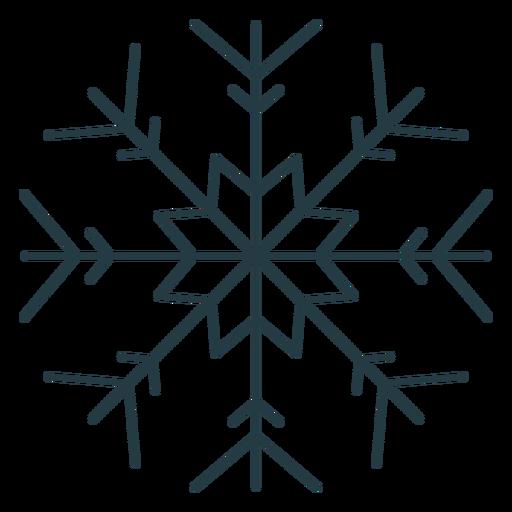 Snowflake winter cold icon