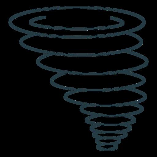 Tornado storm nature icon