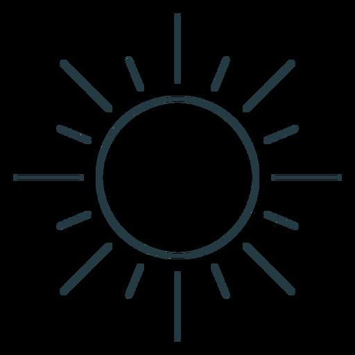 Bright sun sky icon