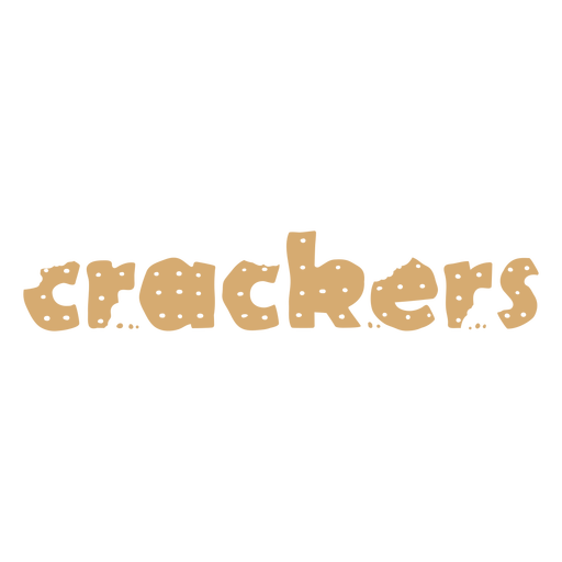 Crackers cut out