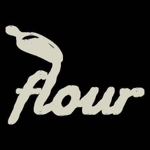 Flour label lettering