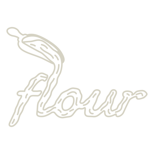 Flour label lettering stroke