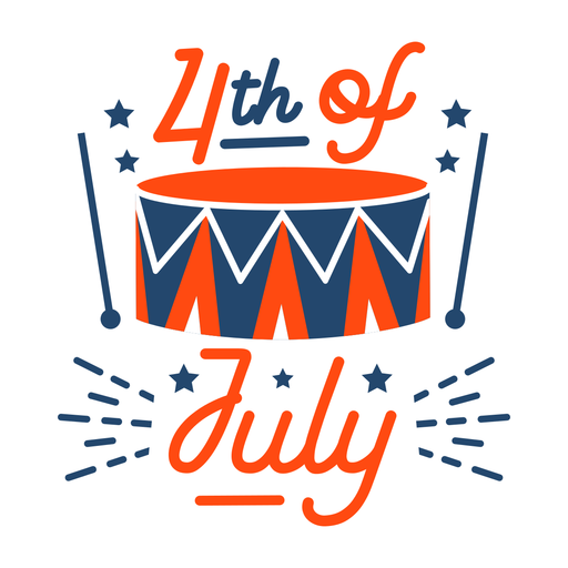 Fourth of july drums badge
