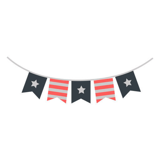 4th july banners flat