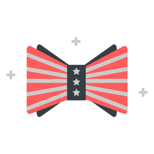 Bow with american flag design flat