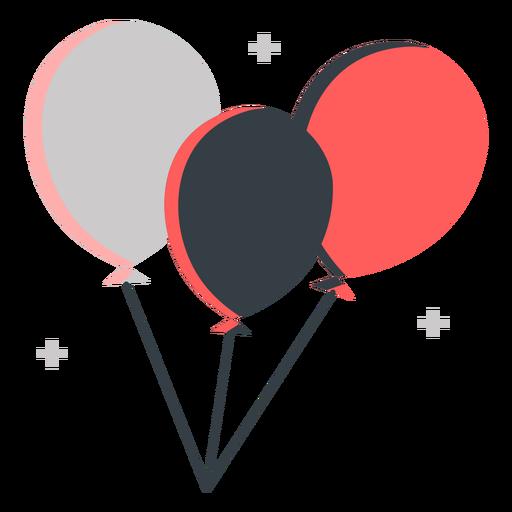 Balloons 4th july flat