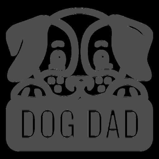 Dog dad filled stroke