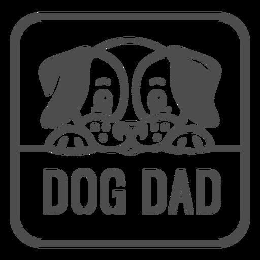 Dog dads filled stroke