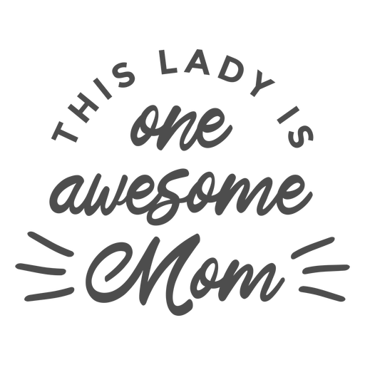 Mothers day awesome badge