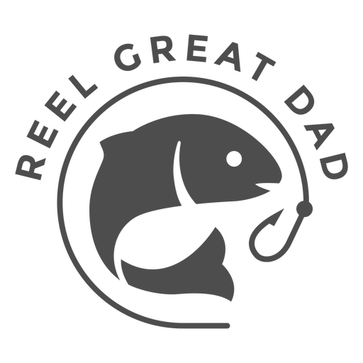 Reel great dad quote cut out