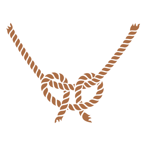 Two ropes knot color cut out