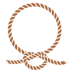 Circular rope knot color cut out