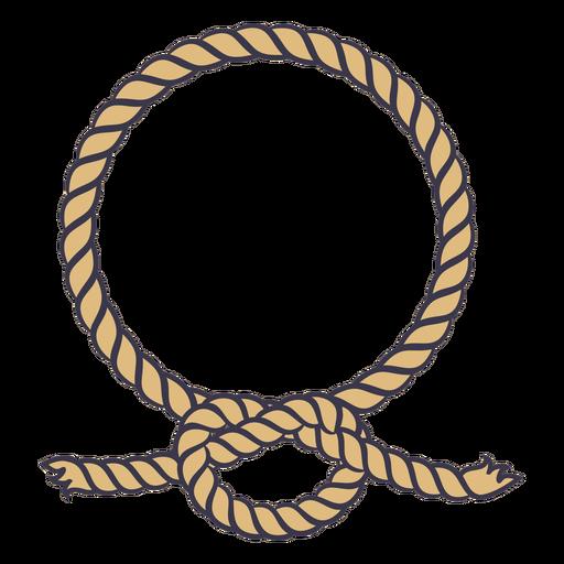 Circular rope knot color stroke