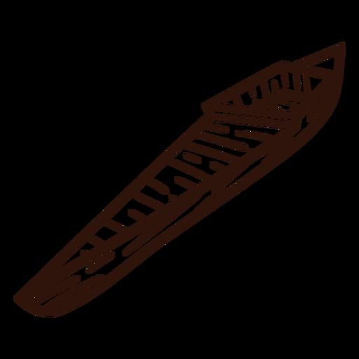 Canoe boat stroke