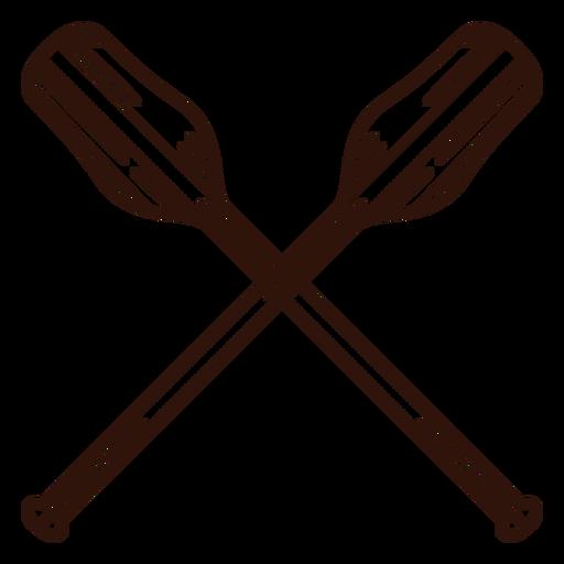 Double oars boat