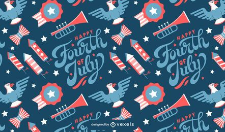 Fourth of july celebration pattern design