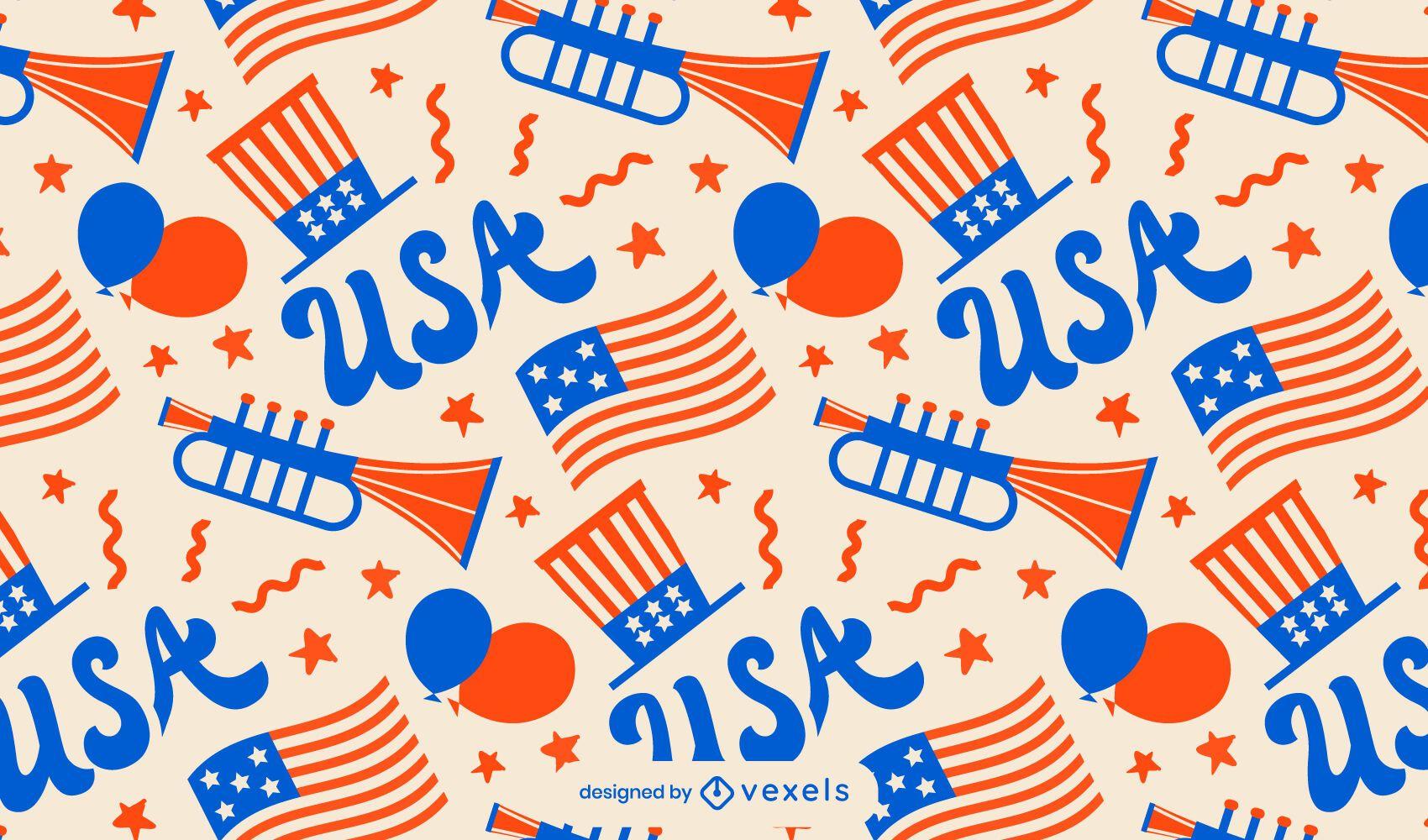 Diseño de patrón de celebración del día de la independencia