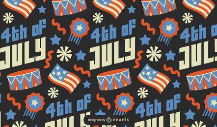 Patrón de celebración americana del cuatro de julio